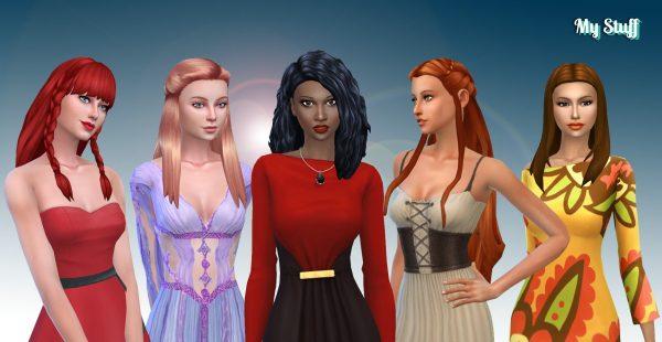 Female Long Hair Pack 12